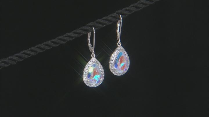 Mercury Mist® Topaz Rhodium Over Sterling Silver Dangle Earrings 7.15ctw
