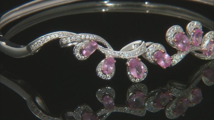 Pink Spinel Sterling Silver Bracelet 2.87ctw
