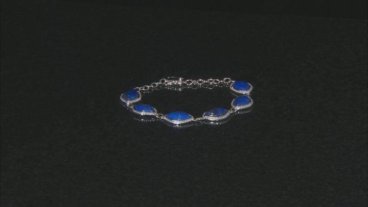 Blue Lapis Lazuli Sterling Silver Bracelet