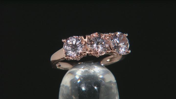 Pink Morganite 10k Rose Gold Ring 1.84ctw
