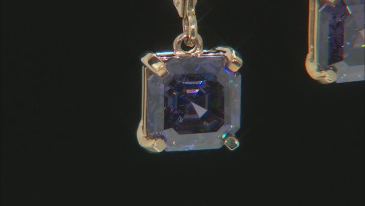 Purple Fabulite Strontium Titanate 10k Gold Earrings 4.85ctw