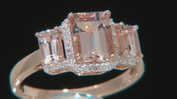 Pink Morganite 10k Rose Gold Ring 1.92ctw