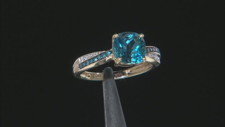 London Blue Topaz 10k Yellow Gold Ring 2.16ctw