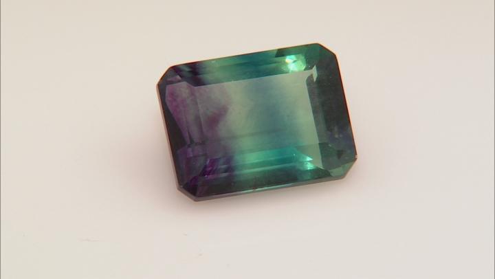 Bi-Color Fluorite 20x15mm Emerald Cut 26.00ct