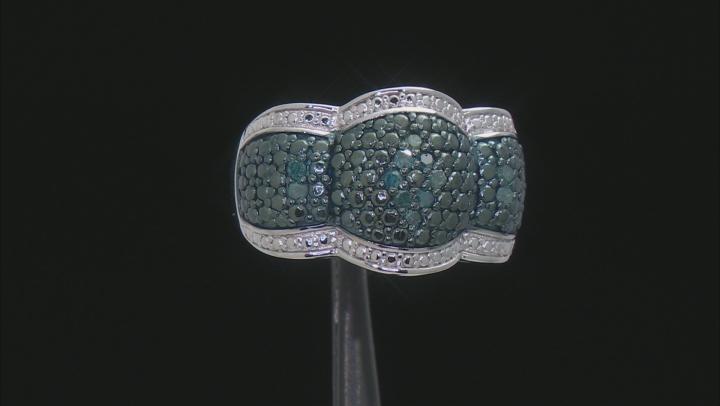 Blue Velvet Diamond™ Rhodium over Sterling Silver Ring .18ctw
