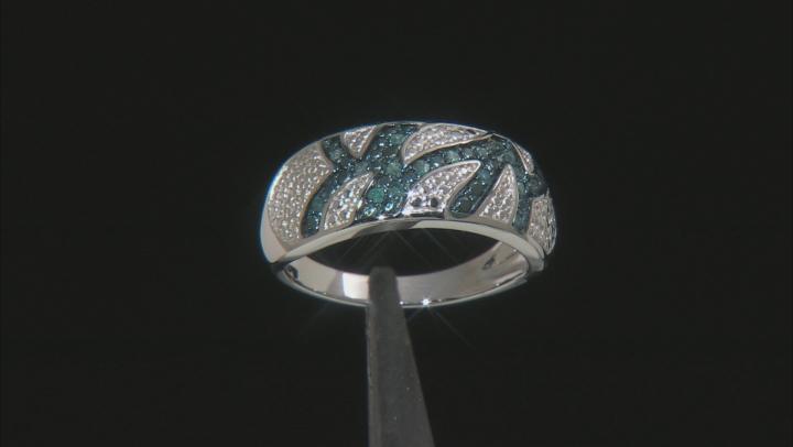 Blue Velvet Diamond™ Rhodium over Sterling Silver Ring .15ctw