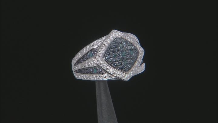 Blue Velvet Diamond™ Rhodium over Sterling Silver Ring .10ctw
