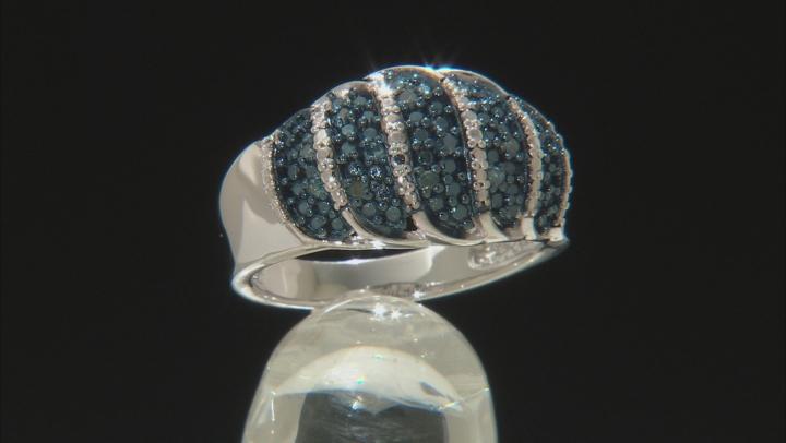 Blue Velvet Diamond™ Rhodium over Sterling Silver Ring .13ctw