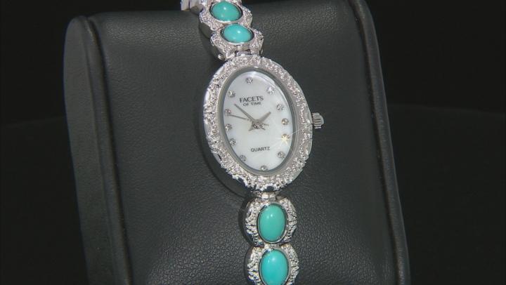 Blue Sleeping Beauty Turquoise Brass Watch
