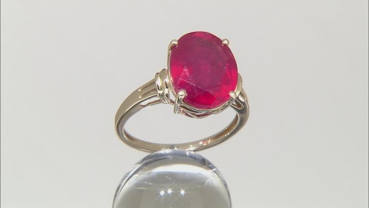 Mahaleo Ruby 10k Yellow Gold Ring