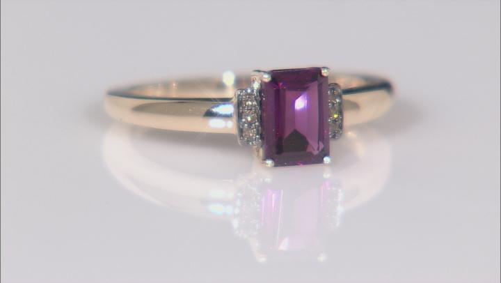 Grape Color Garnet 10k Yellow Gold Ring 1.04ctw