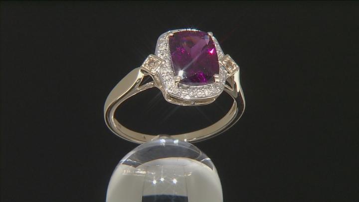 Grape Color Garnet 10k Gold Ring 2.36ctw