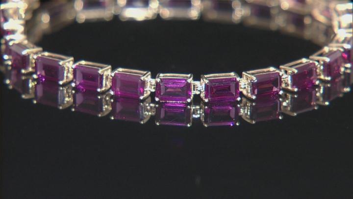 Grape Color Garnet 10k Yellow Gold Bracelet 14.28ctw