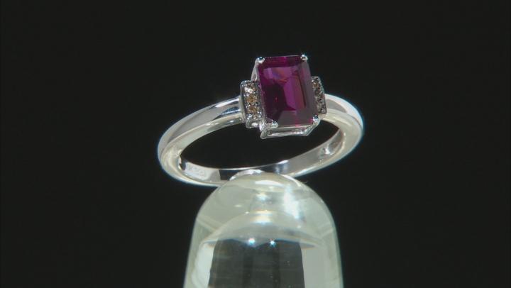 Grape Color Garnet 10K white gold Ring 1.05ctw