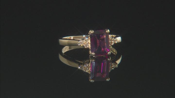 Grape Color Garnet 10k Yellow Gold Ring 1.65ctw