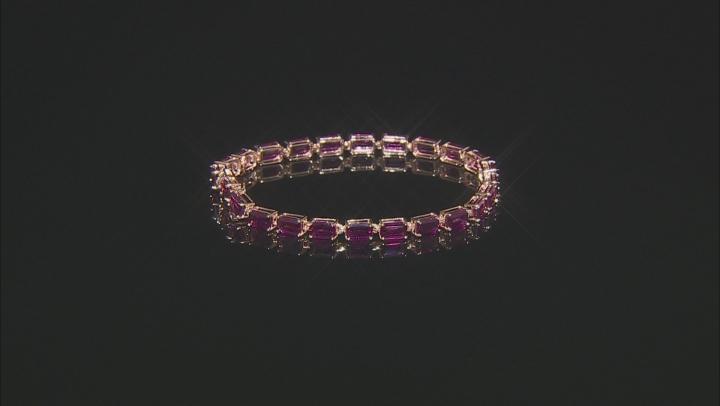 Grape Color Garnet 10k rose gold bracelet 14.28ctw.