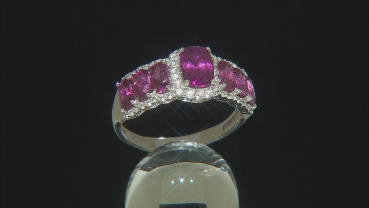 Grape Color Garnet Rhodium Over10k White Gold Ring 3.80ctw