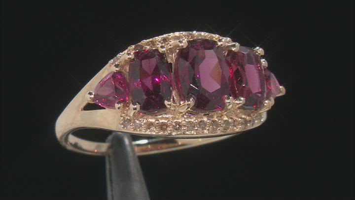 Grape Color Garnet 10k Gold Ring 3.26ctw.