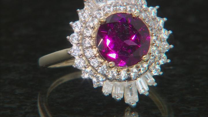 Purple Garnet 10k Yellow Gold Ring 2.85ctw