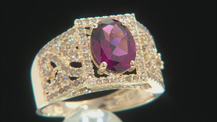 Purple Garnet 10k Yellow Gold Ring 2.36ctw