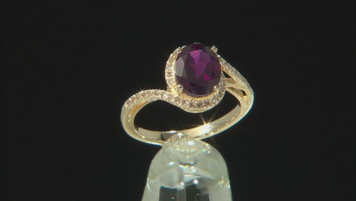 Grape Color Garnet 10k Yellow Gold Ring 1.62ctw