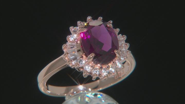 Grape Color Garnet 10k Rose Gold Ring 2.33ctw
