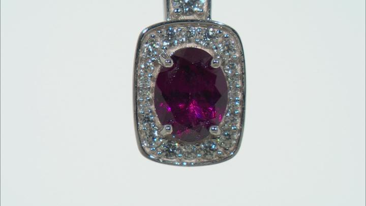 Grape Color Garnet Rhodium Over 10k White Gold 2.31ctw