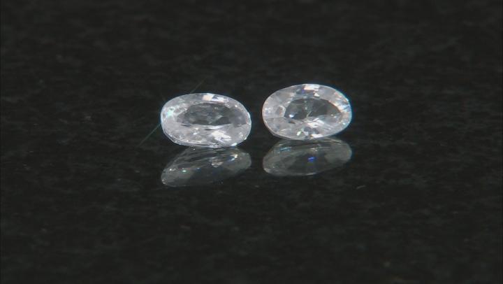 White Zircon Minimum 7x5mm Oval and Sterling Bezel Earring Casting Kit 2.00ctw