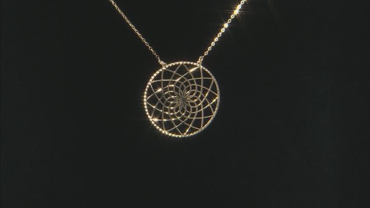 Splendido Oro™ 14k Yellow Gold Dream catcher 18 inch Necklace