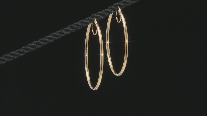 Splendido Oro™ 14k Yellow Gold High Polished 40mm Tube Hoop Earrings
