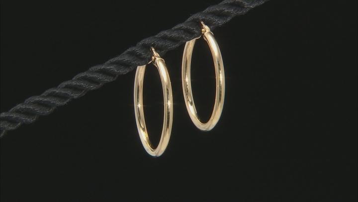 Splendido Oro™ 14k Yellow Gold High Polished 20mm Tube Hoop Earrings