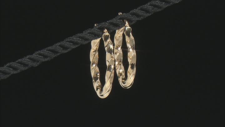 Splendido Oro™ 14K Yellow Gold High Polished Twisted Hoop Earrings