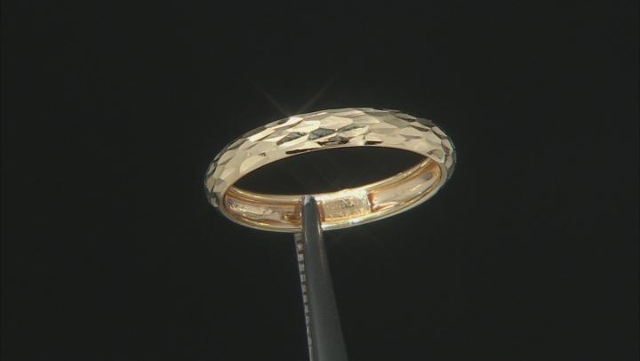 Splendido Oro™ 14k Yellow Gold Diamond Cut Band Ring