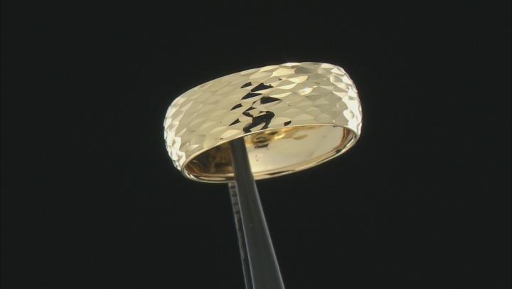 Splendido Oro™ 14k Yellow Gold Solid Diamond Cut Band Ring