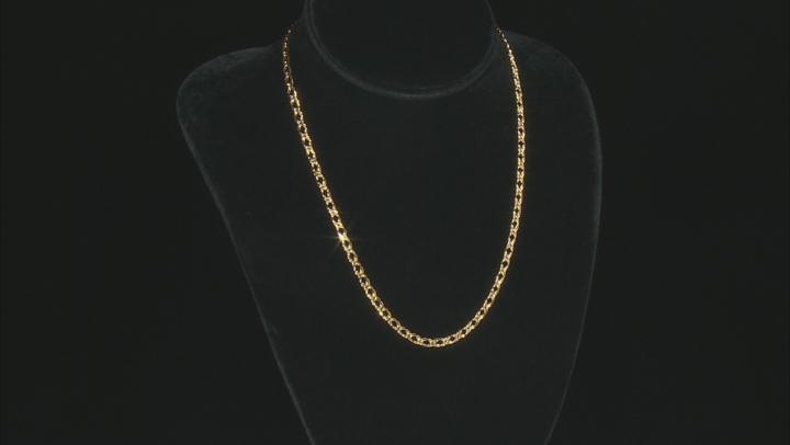 Splendido Oro™ 14K Yellow Gold 4MM Double Cuban Chain 18 Inch Necklace