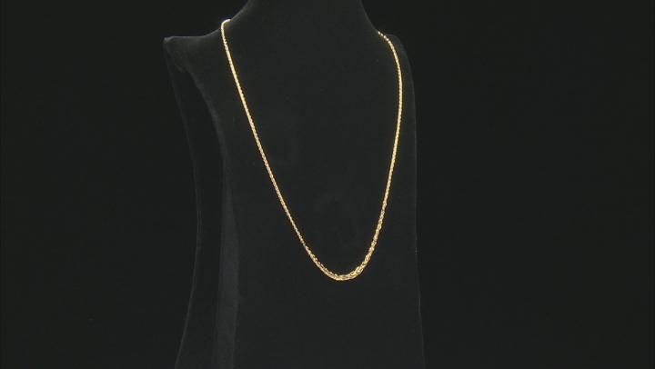 Splendido Oro™ 14K Yellow Gold 1.8MM Graduated Wheat Chain 18 Inch Necklace