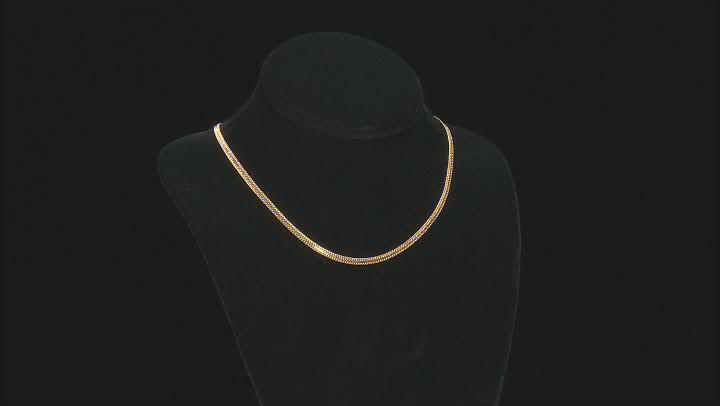 14K Yellow Gold 3.3MM Infinity 18 Inch Chain