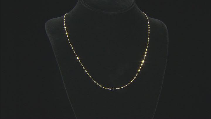 18K Yellow Gold Mirror Valentino Chain