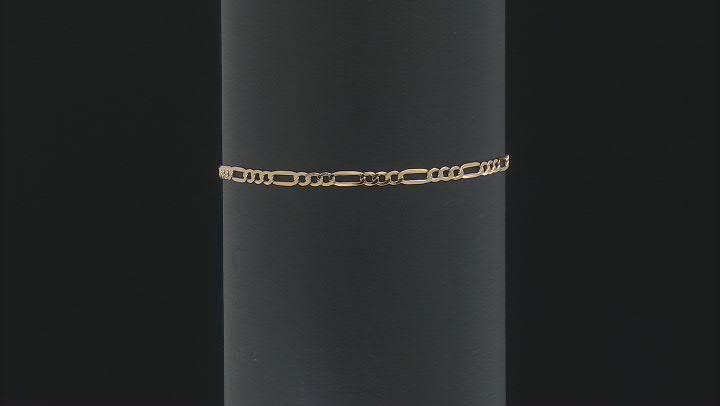 18K Yellow Gold 2.5MM Figaro Bracelet