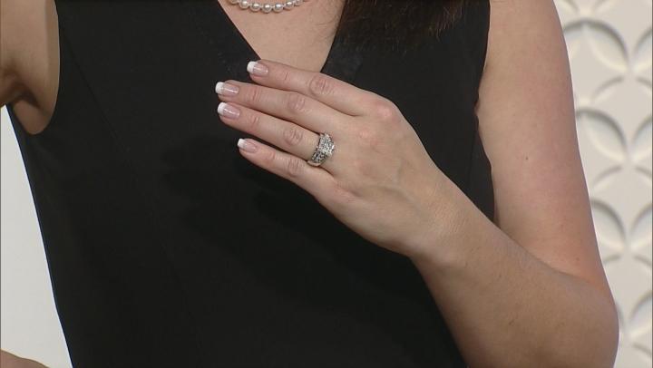 Diamond 10k White Gold Quad Ring 1.00ctw
