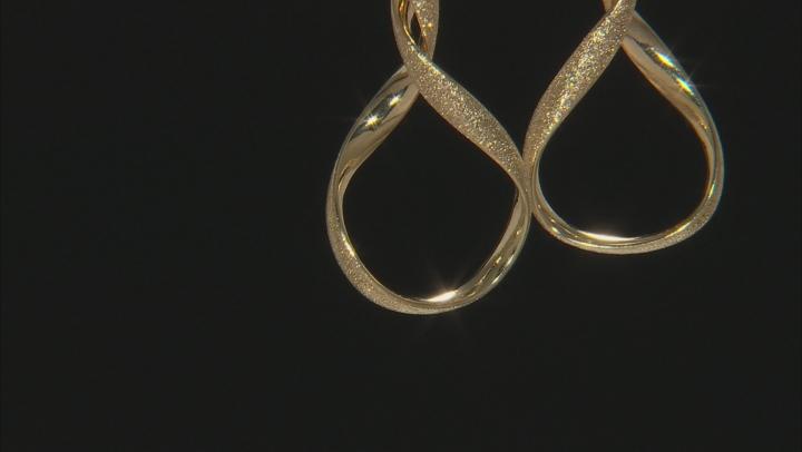 14k Yellow Gold Twisted Tube Hoop Earrings