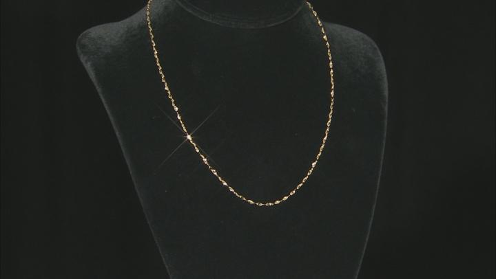 14k Yellow Gold Bella Valentina 18 inch Chain Necklace