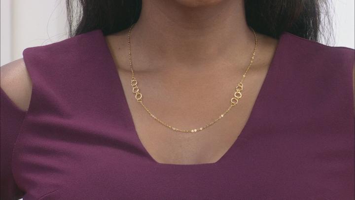 Splendido Oro™ 14K Yellow Gold Geometric Circles Flat Rolo Fancy Necklace 20 Inch