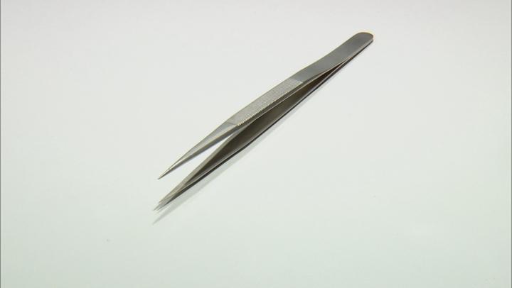 Fine Tip Stainless Steel Gemstone Tweezers 6.5 inches Long