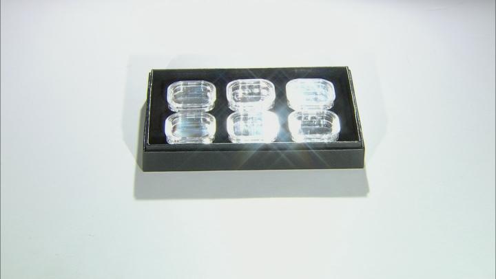Gemstone Storage Tray With 6 Gemstone Storage Jars