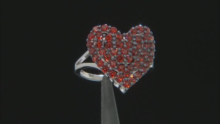 Red Garnet Rhodium Over Sterling Silver Ring 1.96ctw