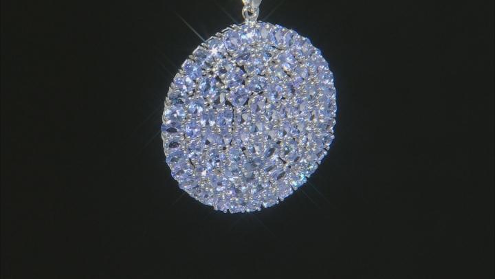 Blue Tanzanite Rhodium Over Silver Pendant With Chain 11.99ctw