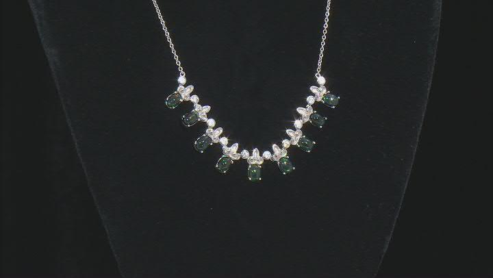 Black Ethiopian Opal Sterling Silver Necklace 5.05ctw