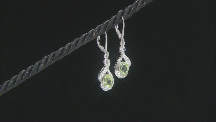 Green Amblygonite Sterling Silver Earrings 1.53ctw