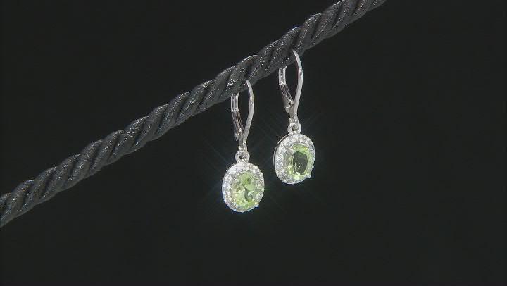 Green Amblygonite Sterling Silver Earrings 1.62ctw